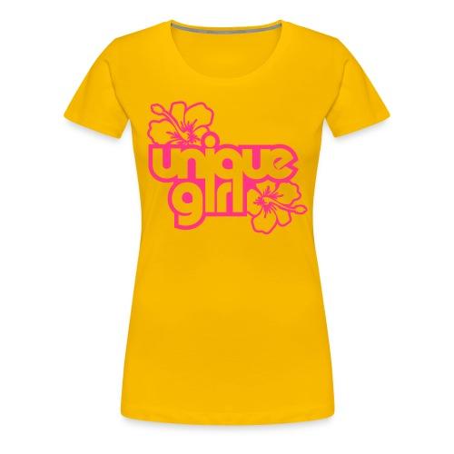 unique girl (jaune) - T-shirt Premium Femme