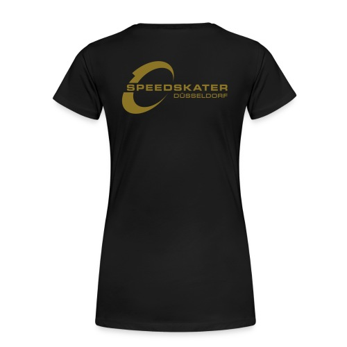 T-Shirt mit Ärmelschriftzug - Frauen Premium T-Shirt