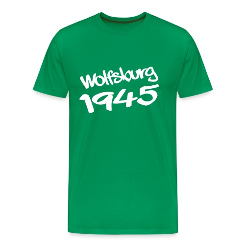 Wolfsburg 1945 Graffiti, Flexdruck - Männer Premium T-Shirt