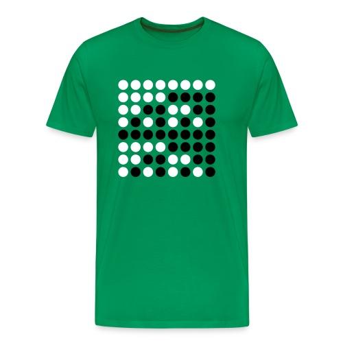 Binaerzahlenquadrat,gGrün - Männer Premium T-Shirt