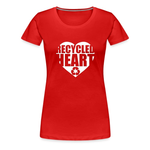 Recycled Heart Tee (Red) Womens - Women's Premium T-Shirt