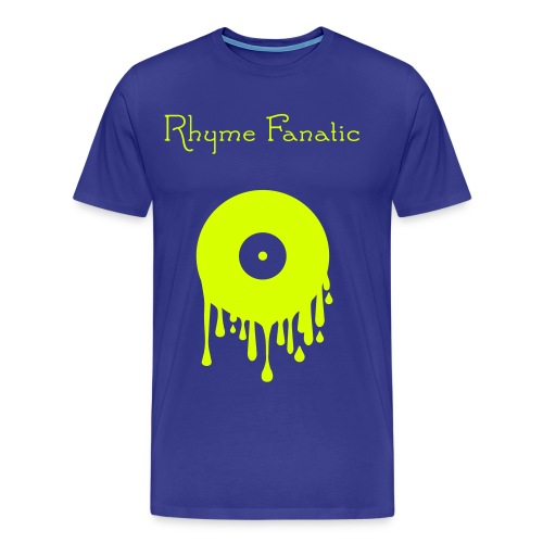 RhymeFanatic-Vinyl-Blue-Yellow - Männer Premium T-Shirt