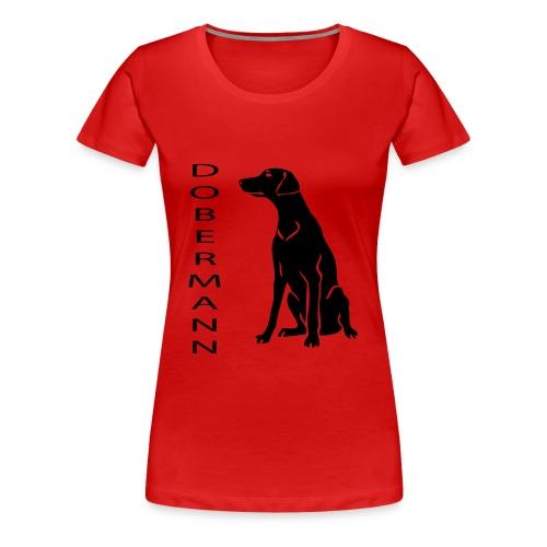 dobermann - Naisten premium t-paita