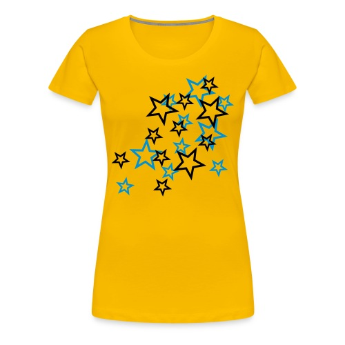 Flying Stars Girlie klassik - Frauen Premium T-Shirt