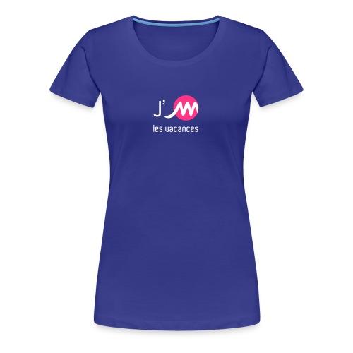 T-shirt F bleu J'M les vacances - T-shirt Premium Femme
