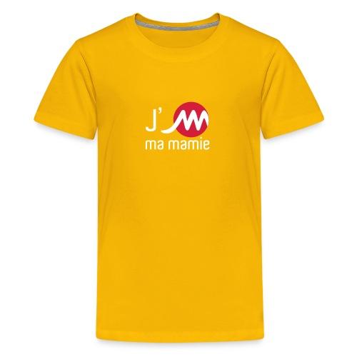 T Shirt enfant jaune J'M ma mamie - T-shirt Premium Ado