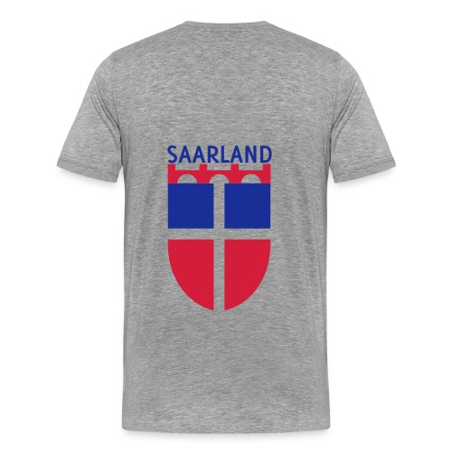 Saarland Shirt grau - Männer Premium T-Shirt