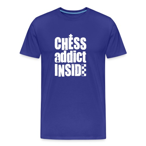 chess addict inside - Mannen Premium T-shirt