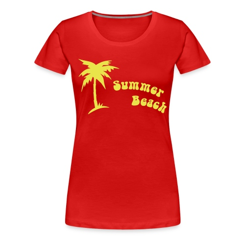 Beach Flower W - Women's Premium T-Shirt