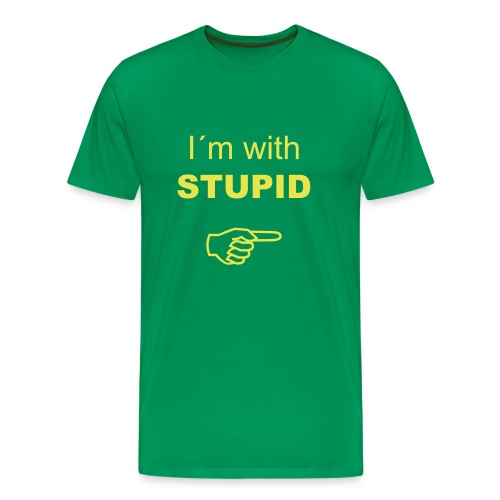 I`m with stupid - Premium T-skjorte for menn
