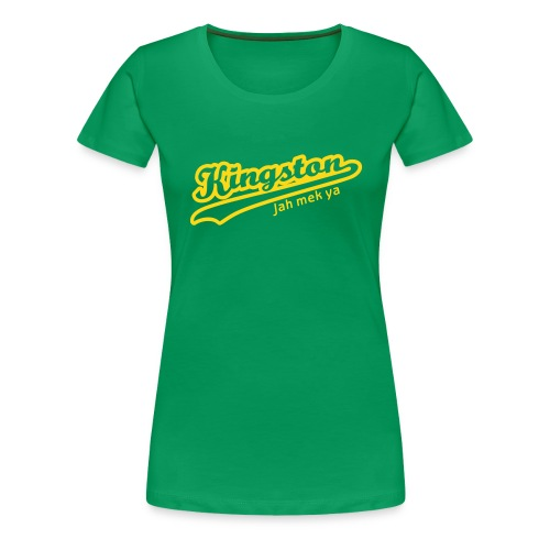 Kingston Tee (Green) Womens - Women's Premium T-Shirt