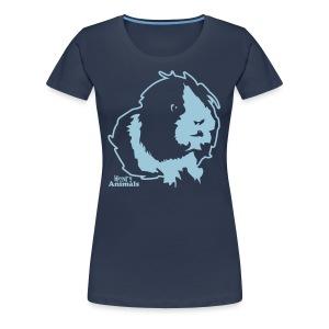 Girlieshirt in jeansblau mit Elvis - Frauen Premium T-Shirt