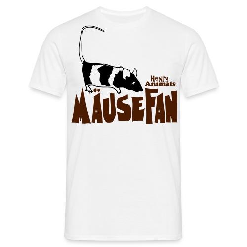 Basisshirt sand mit Mäusefan - Männer T-Shirt