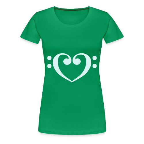 Music in Love - Girlie Shirt - Frauen Premium T-Shirt