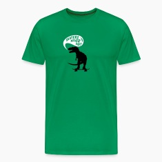 Grass green t-rex skater Men's Tees