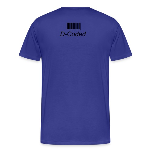 Coded Blue Tee - Men's Premium T-Shirt