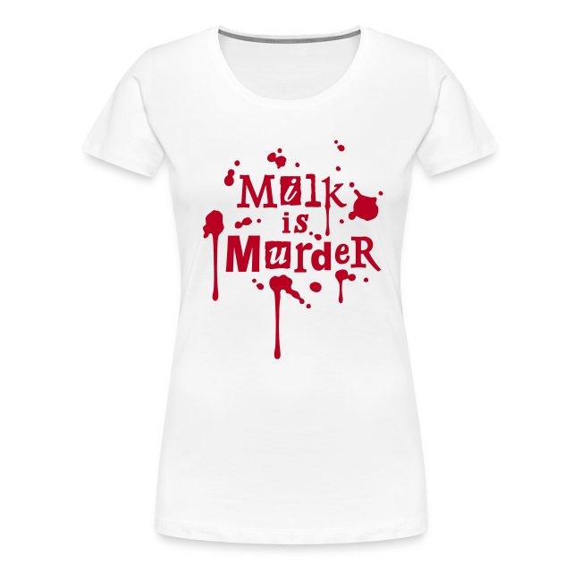 Womens Shirt 'MILK is Murder' W