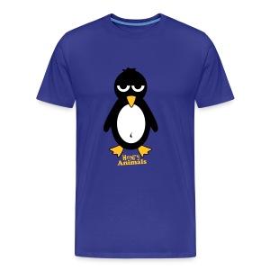 Basishirt royalblau mit Pinguin - Männer Premium T-Shirt
