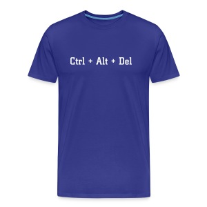 Ctrl + Alt + Del (as text) - Men's Premium T-Shirt