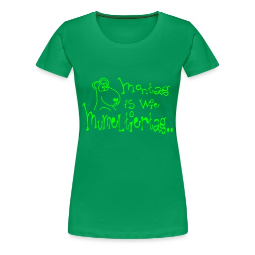 Murmeltiertag Green - Frauen Premium T-Shirt