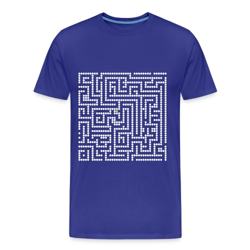 Maze vidoe game retro T - Men's Premium T-Shirt