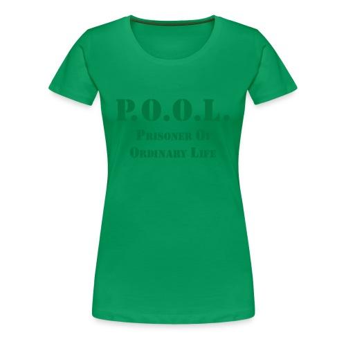 P.O.O.L. green sparkle  Girlie - Frauen Premium T-Shirt