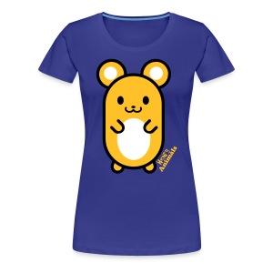 Girlieshirt königsblau mit Comic Maus - Frauen Premium T-Shirt