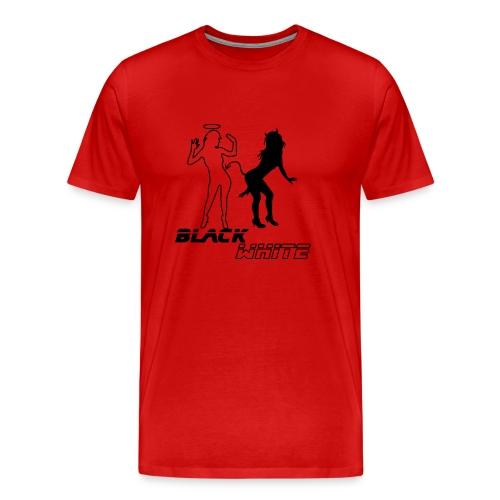 Premium-T-shirt herr - black