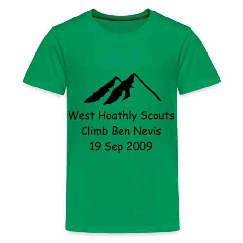 Scout Sponsorship Tshirt Sep 2009 - Teenage Premium T-Shirt