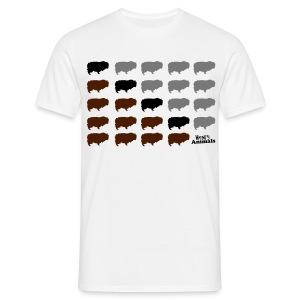 Basis-T-Shirt sand mit Henry Pop Art - Männer T-Shirt