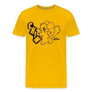 Basis T-Shirt gelb mit Comic Chin - Männer Premium T-Shirt