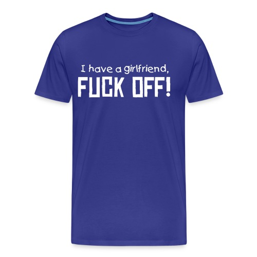 Girlfriend - Premium T-skjorte for menn