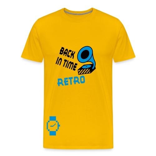 Retro Time (kies je kleur)  - Mannen Premium T-shirt