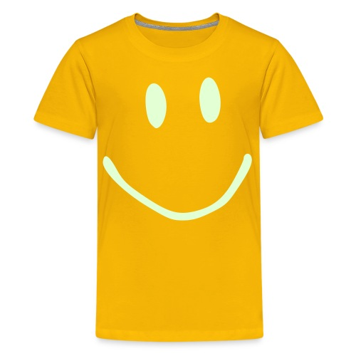 glow in the dark smile t-shirt - Teenage Premium T-Shirt
