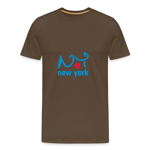 Ny YORK - Premium-T-shirt herr