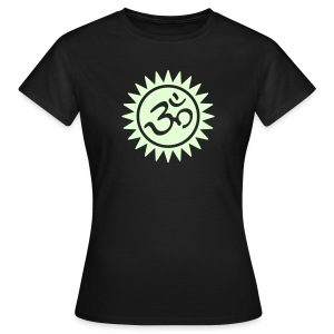 Devanagari OM (glow in the dark) - Frauen Girlieshirt - Frauen T-Shirt