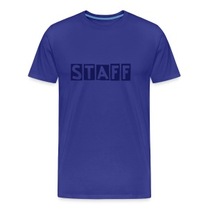 Mens ' Staff ' Tee v6 Sky / Navy Flex Print - Men's Premium T-Shirt