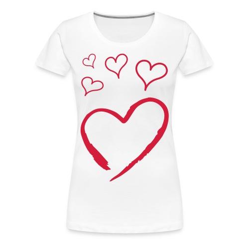 Hearts - Premium T-skjorte for kvinner