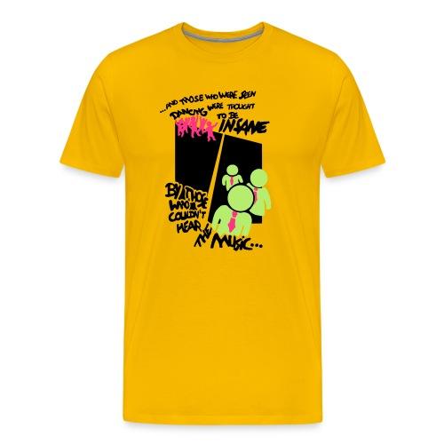 hear the music, gelb - Männer Premium T-Shirt