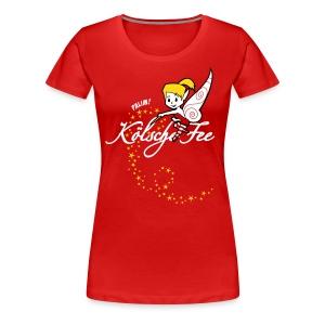 Koelsche Fee, met Flögel op dem Rögge - Frauen Premium T-Shirt