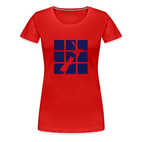 NZ Squares - Women's Premium T-Shirt