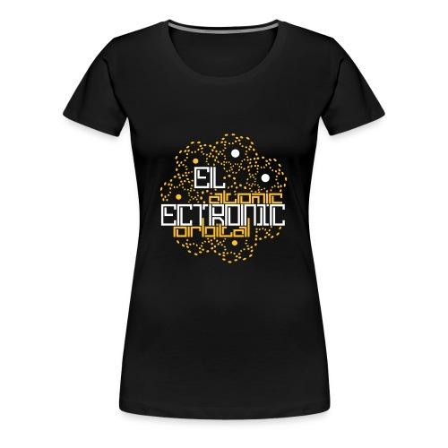 Schwarz electronic atomic orbital (© alteerian) T-Shirts - Frauen Premium T-Shirt