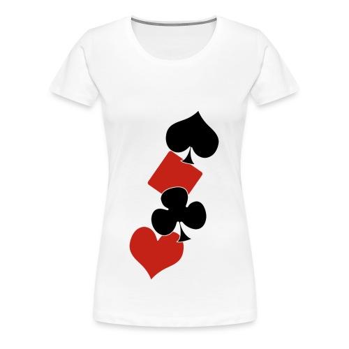 POKER-001 - T-shirt Premium Femme