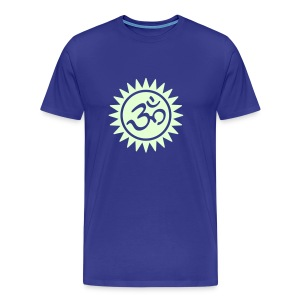 Devanagari OM (glow in the dark) -   Männer Basis-T-Shirt - Männer Premium T-Shirt