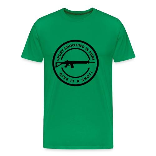 Schietsport is Fun flex print Sig - Mannen Premium T-shirt