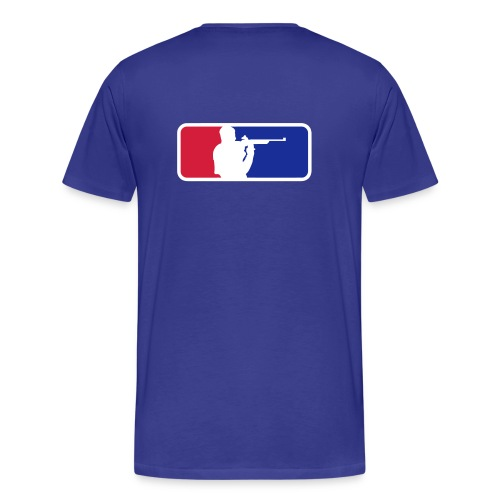 Schietsport Kleur Flex Print Achter! - Mannen Premium T-shirt