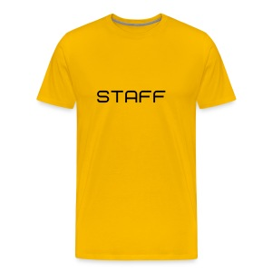 Mens ' Staff ' Tee v1 Yellow / Black Flex Print - Men's Premium T-Shirt