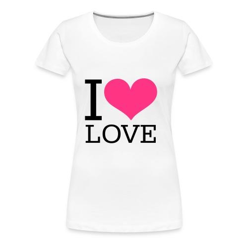 I <3 Love - Frauen Premium T-Shirt
