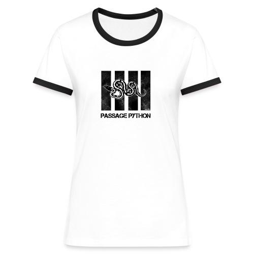 Tee shirt bande passage python - T-shirt contrasté Femme
