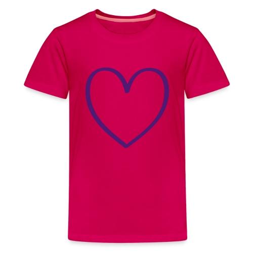 Corazón transparente - Camiseta premium adolescente